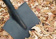 svart komposttäckningskyffel Royaltyfria Foton