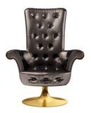 svart kontor för stol 3d Arkivbild