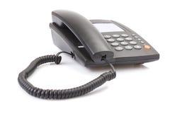 svart kontorstelefon Royaltyfri Bild