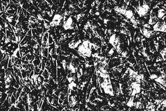 Svart kornig textur som isoleras på vit Royaltyfri Bild
