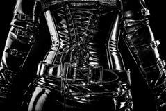 svart korsett Arkivfoto