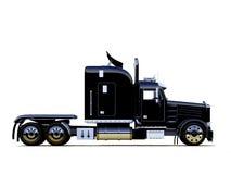 svart kraftig lastbil Royaltyfri Bild