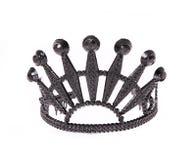 Svart krona som isoleras på white arkivbilder
