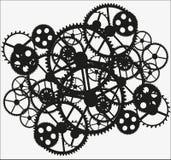 svart kugghjul Arkivbild