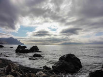 svart kustcrimea hav Arkivfoton