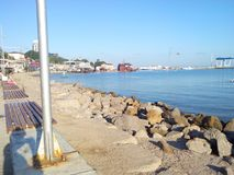 svart kusthav Royaltyfri Fotografi