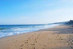 svart kusthav Fotografering för Bildbyråer