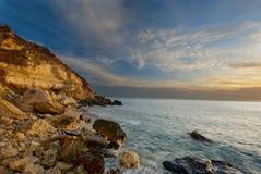 svart kusthav Royaltyfri Bild