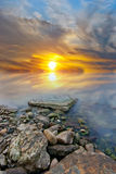 svart kusthav Royaltyfria Foton