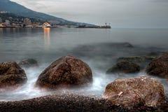 svart kustlinjehavsstrom fotografering för bildbyråer