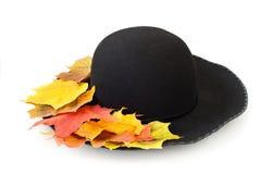 Svart kvinna hatt Royaltyfri Fotografi