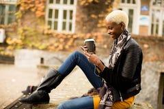 svart kvinnabarn royaltyfri fotografi