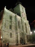svart kyrka Royaltyfri Foto