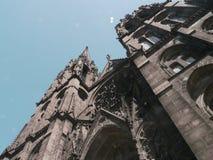svart kyrka Royaltyfria Foton