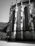 svart kyrka arkivbild