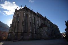 Svart kyrka i perspektiv Royaltyfri Foto