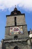 svart kyrkatorn royaltyfri bild