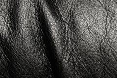 svart läder Arkivbilder
