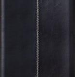 Svart läderbakgrund Arkivfoto