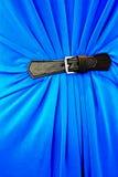 Svart läderbuckla Arkivfoto