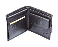 svart läderplånbok Royaltyfri Bild