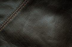 svart läderseam Royaltyfri Foto
