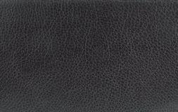 svart lädertextur Fotografering för Bildbyråer