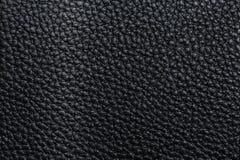 svart lädertextur Arkivbilder
