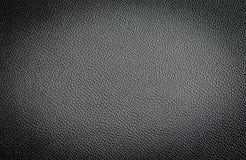 Svart lädertextur från bilsäten Arkivfoton