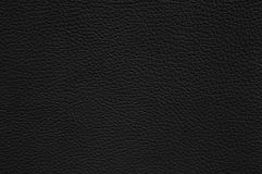 Svart lädertextur som bakgrund Royaltyfri Bild