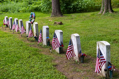 Svart löder gravar på Zion Hill Cemetery Royaltyfri Foto