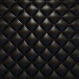 svart lädertexturupholstery Royaltyfri Bild