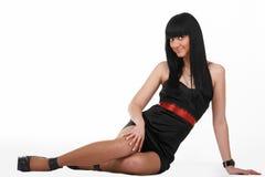 svart lady Arkivfoto