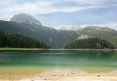 Svart lake Durmitor nationalpark Montenegro Arkivfoton