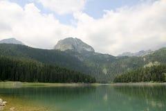 Svart lake Durmitor nationalpark Montenegro Arkivbild