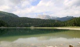 Svart lake Durmitor nationalpark Montenegro Royaltyfri Foto