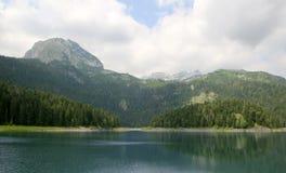 Svart lake Durmitor nationalpark Montenegro Arkivbilder