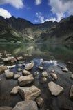 Svart Lake Tatra Royaltyfri Bild