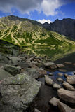 Svart Lake Tatra Arkivfoto