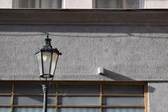 Svart lampa i Prague Royaltyfri Foto