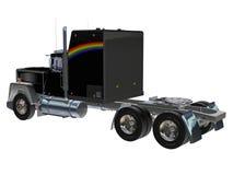 svart lastbil stock illustrationer