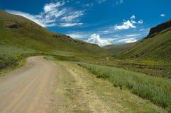 svart lesotho bergpasserande Arkivbilder