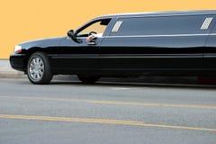 svart limousine Royaltyfri Bild