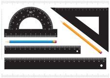 svart linjal Fotografering för Bildbyråer