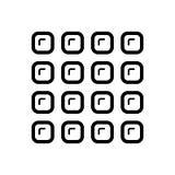 Svart linje symbol för kategori, meny och lista royaltyfri illustrationer