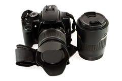 Svart lins för enkla Lens reflexkamera Fotografering för Bildbyråer