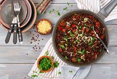 Svart linsbeluga med grönsaker Lenten meny Royaltyfria Bilder