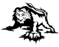 svart lion Arkivbild