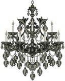 Svart ljuskrona för barock Royaltyfri Bild