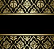 Svart ljust kort med den guld- modellen vektor illustrationer